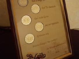 Sveikinimas su Ačiū monetomis
