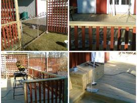 Lauko terasos, pavėsinės, tvoros (medžio darbai)