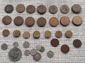 Uk (Didziosios Britanijos) monetos 1885-1967