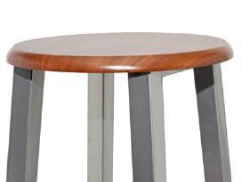 Dviejų Baro Kėdžių Komplektas, Medis ir Metalas