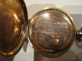 Paauksuotas kišeninis anglijos manufakt. laikrodis - nuotraukos Nr. 2