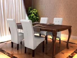 4 Valgomojo Kėdės, Baltos - vidaxl