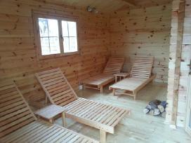 Mediniai gultai šezlongai krėslai namams - verslui - nuotraukos Nr. 4