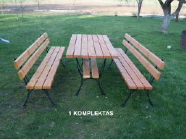 Lauko baldai, stalas, suoliukai. - nuotraukos Nr. 2