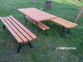 Lauko baldai, stalas, suoliukai. - nuotraukos Nr. 3