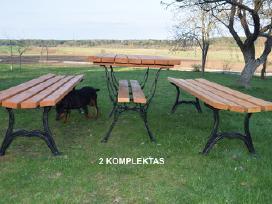 Lauko baldai, stalas, suoliukai. - nuotraukos Nr. 4