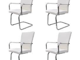 4 Baltos Modernios Valgomojo Kėdės 270163 vidaxl - nuotraukos Nr. 2