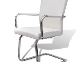 4 Baltos Modernios Valgomojo Kėdės 270163 vidaxl - nuotraukos Nr. 3