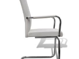 4 Baltos Modernios Valgomojo Kėdės 270163 vidaxl - nuotraukos Nr. 4