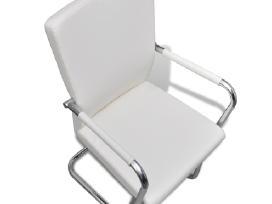 4 Baltos Modernios Valgomojo Kėdės 270163 vidaxl - nuotraukos Nr. 5