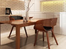 2 Medinės Valgomojo Kėdės, Rudos - vidaxl