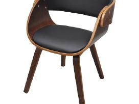 2 Medinės Valgomojo Kėdės, Rudos - vidaxl - nuotraukos Nr. 5