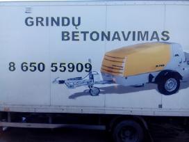 Grindu betonavimas vokiska iranga