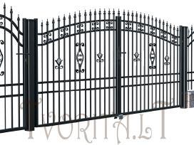 Metalinės tvoros vartai, varteliai, automatika - nuotraukos Nr. 6
