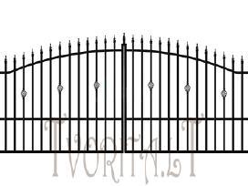 Metalinės tvoros vartai, varteliai, automatika - nuotraukos Nr. 10