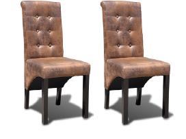 Valgomojo kėdės, 2 vnt, rudos 241157 vidaxl
