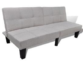 Pilka Reguliuojama Sofa-lova,240783 vidaxl