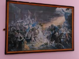 Senovinis paveikslas ,Pompejos žlugimas