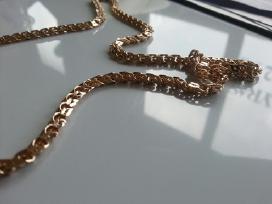 Auksine grandinele Bismark 35gr. (sveista kampu) - nuotraukos Nr. 4