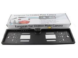 Galinio vaizdo parkingo kamera numerio rėmelyje