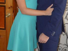 Mėtinės spalvos suknelė