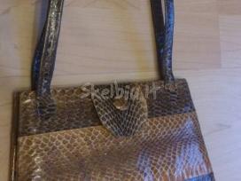 Natūralios gyvatės odos rankinė