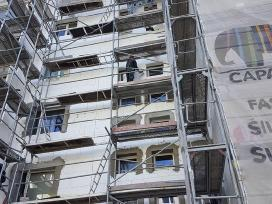 Fasadų šiltinimas Renovacija Pastolių nuoma