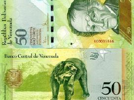 Venesuela 50 Bolivares 2012m. P92 Unc
