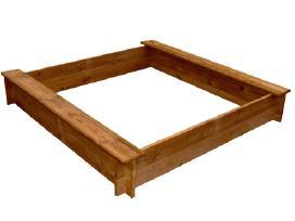 Kvadratinė Medinė Smėlio Dėžė, vidaxl