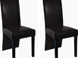 Dviejų Rudų Valgomojo Kėdžių Komplektas, vidaxl