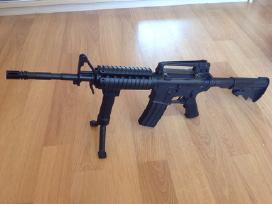 M4 vienašūvis airsoft šautuvas su metalinėm dalim