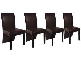 Keturios Rudos Valgomojo Kėdės, vidaxl