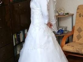 Lengva vestuvinė suknelė su neriniais be šleifo - nuotraukos Nr. 2