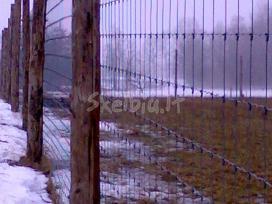 Sietas elnių ,danielų , avių ganyklų tvėrimas