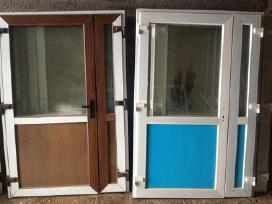 Lauko naujos Plastikines Durys nuo120e.-langai-pig