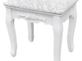 Kosmetinis Staliukas su Kėdute ir 3 Veidrodžiais