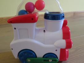 Muzikinis traukinukas važiuoja, groja, šviečia - nuotraukos Nr. 2