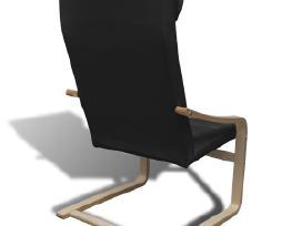 Krėslas iš Lenktos Medienos, Juodas, vidaxl