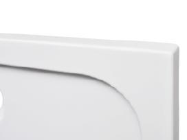Quad Abs Stačiakampis Dušo Padėklas 70 x 90 cm