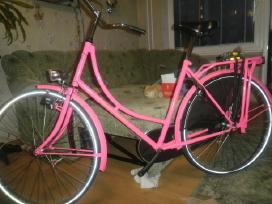 Rožinis provanso dviratis