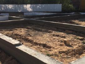 Pamatų įrengimas ir betonavimo darbai