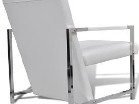 Kubo Formos Fotelis su Chromo Kojelėmis, vidaxl