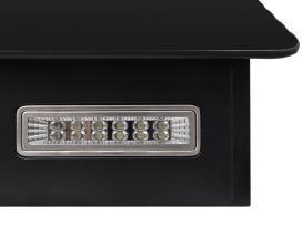 Juodas Garų Surinktuvas su Ekranu, 600 mm, vidaxl
