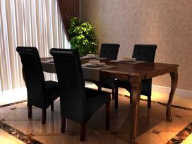 4 Valgomojo Kėdės, Juodos, vidaxl