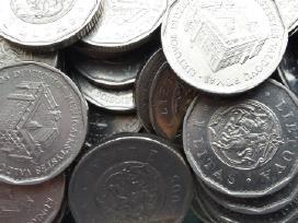 Įvairios litų monetos (iš apyvartos ir unc)