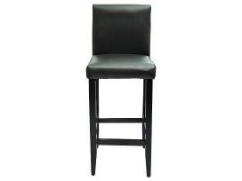 4 Juodos Dirbtinės Odos Baro Kėdžių Komplektas - nuotraukos Nr. 3