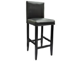 4 Juodos Dirbtinės Odos Baro Kėdžių Komplektas - nuotraukos Nr. 4