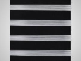 Zebra Žaliuzė, Roletas 70 x 120 cm, Juodas