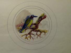 Dailininko Vlado Degėsio akvarelės-miniatūros