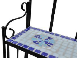 Stovas Augalams, Mėlyna ir Balta Mozaika, vidaxl